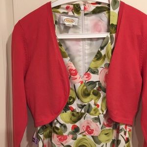 Talbots dress and coordinating shrug size 4